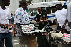 illegal street peddlers