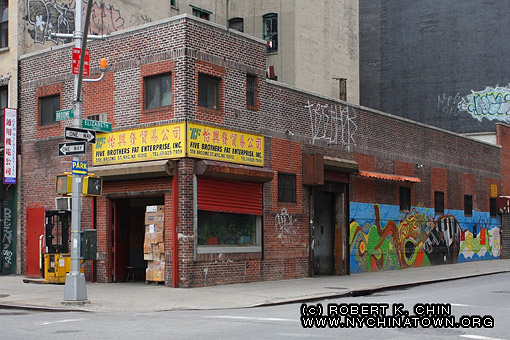New york city chinatown storefronts broome street for Mural on broome street